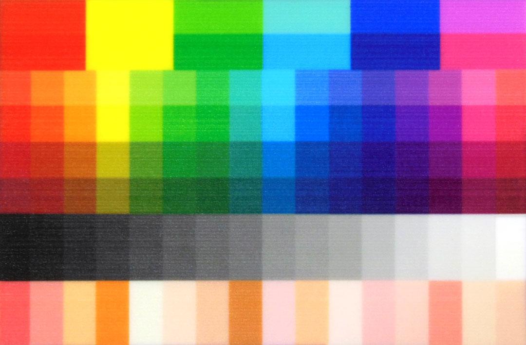 出力したカラーサンプル画像